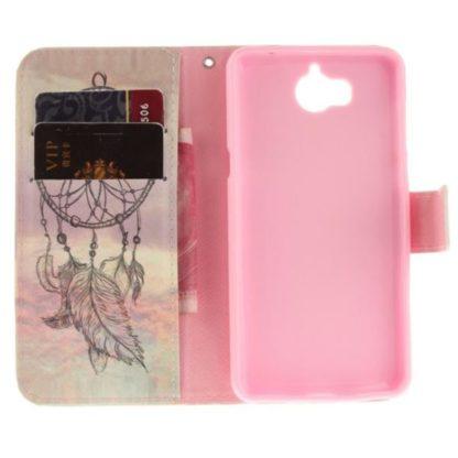 Plånboksfodral Huawei Y6 2017 - Drömfångare / Dreamcatcher