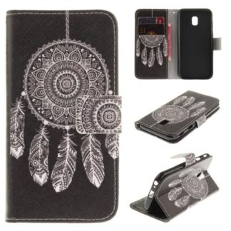 Plånboksfodral Samsung Galaxy J3 2017 – Drömfångare Vit/Svart