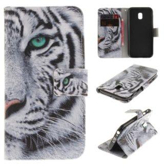 Plånboksfodral Samsung Galaxy J3 2017 – Vit Tiger