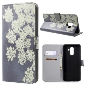 Plånboksfodral Samsung Galaxy A6 Plus - Små Blommor
