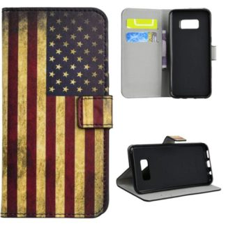 Plånboksfodral Samsung Galaxy S8 - Flagga USA