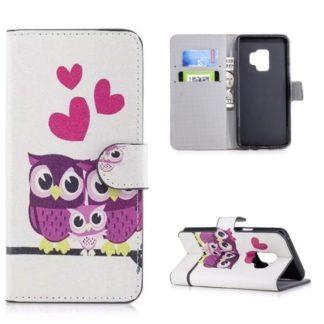 Plånboksfodral Samsung Galaxy S9 - Ugglor & Hjärtan