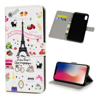 Plånboksfodral iPhone XS Max - Paris