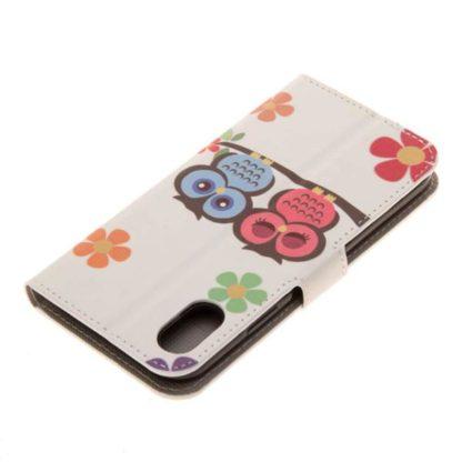 Plånboksfodral iPhone XS Max - Ugglor & Blommor