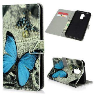 Plånboksfodral Huawei Mate 20 Lite - Blå Fjäril