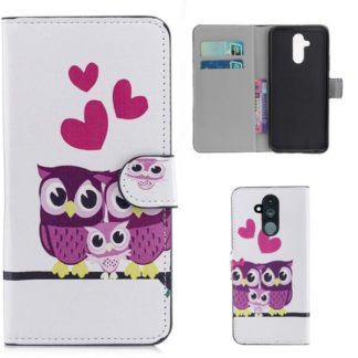 Plånboksfodral Huawei Mate 20 Lite - Ugglor & Hjärtan