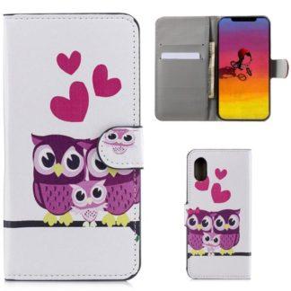 Plånboksfodral Apple iPhone XS Max - Ugglor & Hjärtan