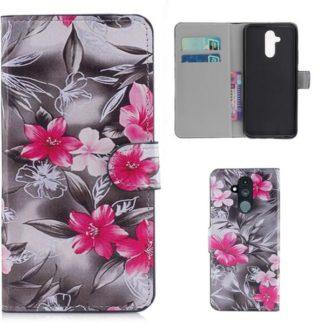 Plånboksfodral Huawei Mate 20 Lite - Svartvit med Blommor