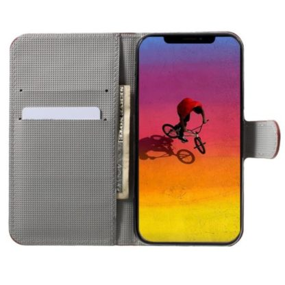 Plånboksfodral Apple iPhone XS Max - Svart med Blommor