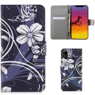 Plånboksfodral Apple iPhone XR - Svart med Blommor