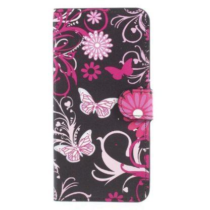 Plånboksfodral Apple iPhone XR - Svart med Fjärilar