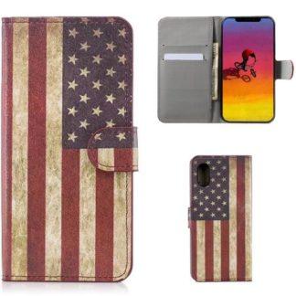 Plånboksfodral Apple iPhone XR - Flagga USA