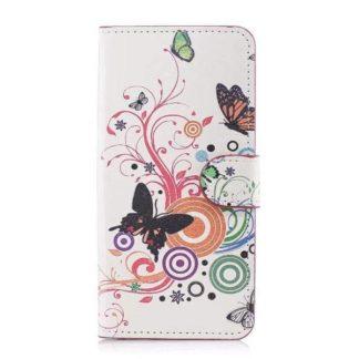 Plånboksfodral Apple iPhone XR - Vit med Fjärilar