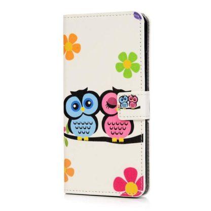 Plånboksfodral Apple iPhone XR - Ugglor & Blommor