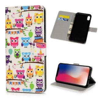 Plånboksfodral Apple iPhone XR - Ugglor På Kalas