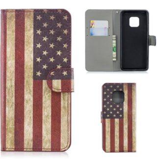 Plånboksfodral Huawei Mate 20 Pro - Flagga USA