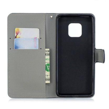 Plånboksfodral Huawei Mate 20 Pro - Blå Fjäril