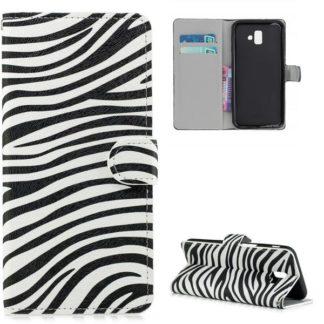 Plånboksfodral Samsung Galaxy J6 Plus - Zebra