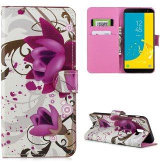 Plånboksfodral Samsung Galaxy J6 Plus - Lotus