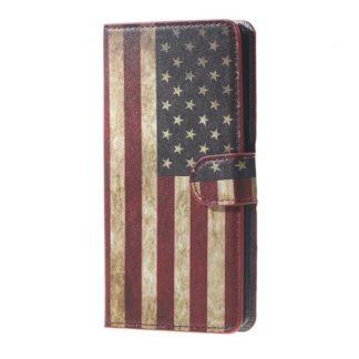 Plånboksfodral Samsung Galaxy J6 Plus - Flagga USA