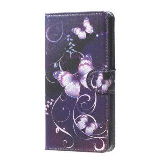 Plånboksfodral Samsung Galaxy J6 Plus - Lila med Fjärilar