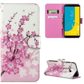 Plånboksfodral Samsung Galaxy J6 Plus - Körsbärsblommor