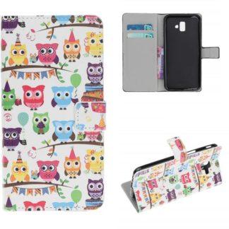 Plånboksfodral Samsung Galaxy J6 Plus - Ugglor På Kalas