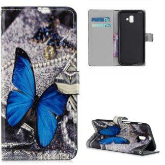 Plånboksfodral Samsung Galaxy J6 Plus - Blå Fjäril