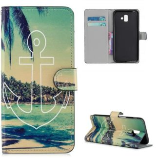 Plånboksfodral Samsung Galaxy J6 Plus - Ankare