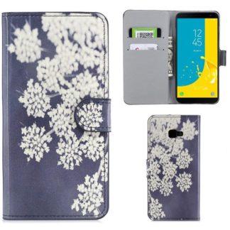 Plånboksfodral Samsung Galaxy J4 Plus - Små Blommor