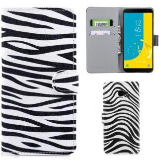Plånboksfodral Samsung Galaxy J4 Plus - Zebra