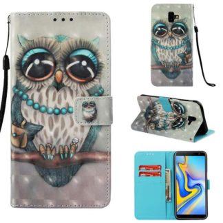 Plånboksfodral Samsung Galaxy J6 Plus – Utsmyckad Uggla
