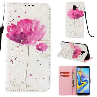 Plånboksfodral Samsung Galaxy J6 Plus – Rosa Blomma