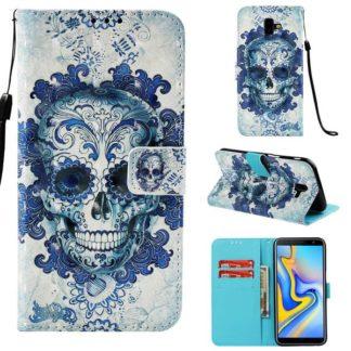 Plånboksfodral Samsung Galaxy J6 Plus – Döskalle
