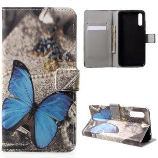 Plånboksfodral Huawei P20 – Blå Fjäril