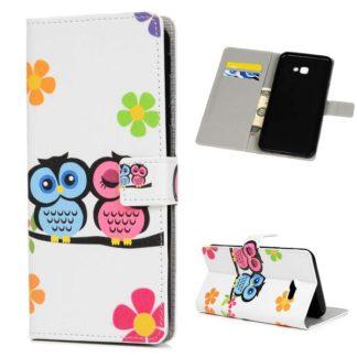 Plånboksfodral Samsung Galaxy J4 Plus - Ugglor & Blommor