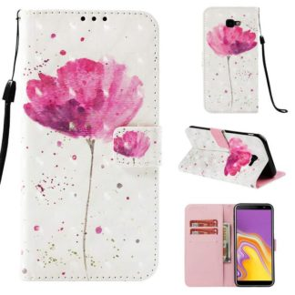 Plånboksfodral Samsung Galaxy J4 Plus – Rosa Blomma