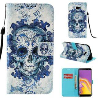 Plånboksfodral Samsung Galaxy J4 Plus – Döskalle