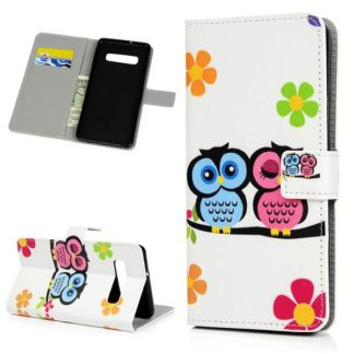 Plånboksfodral Samsung Galaxy S10 Plus - Ugglor & Blommor