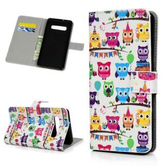 Plånboksfodral Samsung Galaxy S10 Plus - Ugglor På Kalas