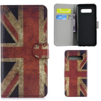 Plånboksfodral Samsung Galaxy S10 Plus - Flagga UK