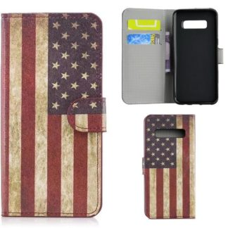Plånboksfodral Samsung Galaxy S10 Plus - Flagga USA