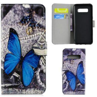 Plånboksfodral Samsung Galaxy S10 Plus - Blå Fjäril