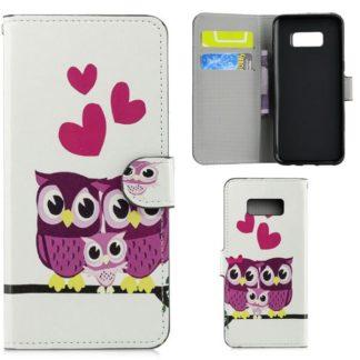 Plånboksfodral Samsung Galaxy S10e - Ugglor & Hjärtan