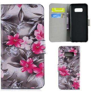 Plånboksfodral Samsung Galaxy S10e - Svartvit med Blommor