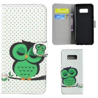 Plånboksfodral Samsung Galaxy S10e - Prickigt med Uggla