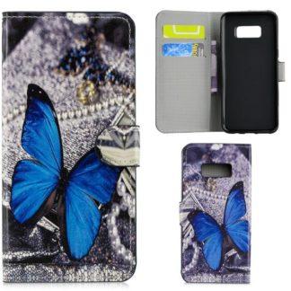 Plånboksfodral Samsung Galaxy S10e - Blå Fjäril