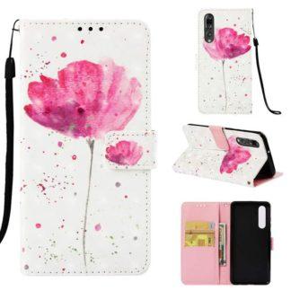 Plånboksfodral Huawei P30 – Rosa Blomma