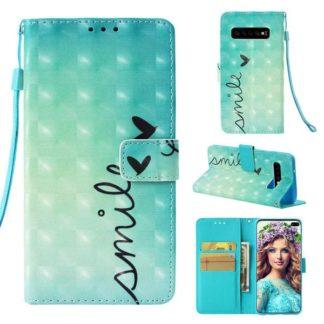 Plånboksfodral Samsung Galaxy S10 Plus - Smile