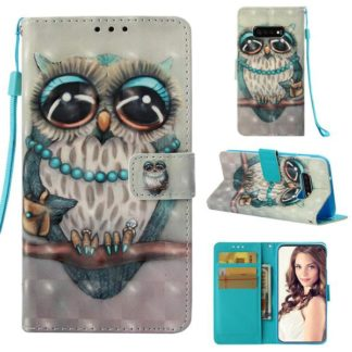 Plånboksfodral Samsung Galaxy S10e – Utsmyckad Uggla